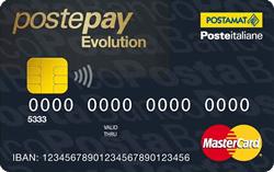 Carta prepagata Poste Italiane Postepay Evolution